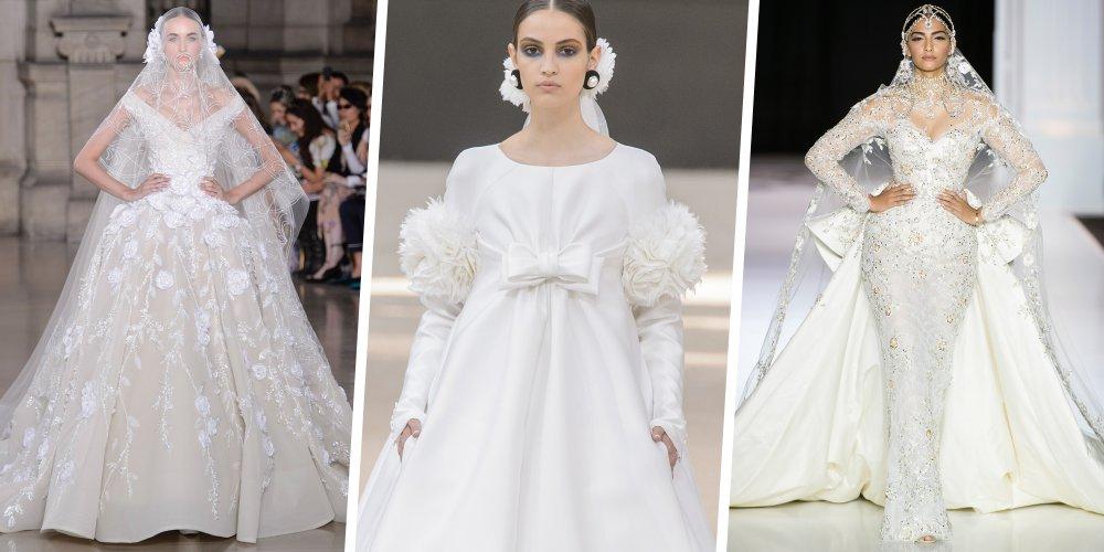 De Chanel à Elie Saab en passant par Christian Dior, redécouvrez toutes les  robes de mariée haute couture. 329482e9c8d1